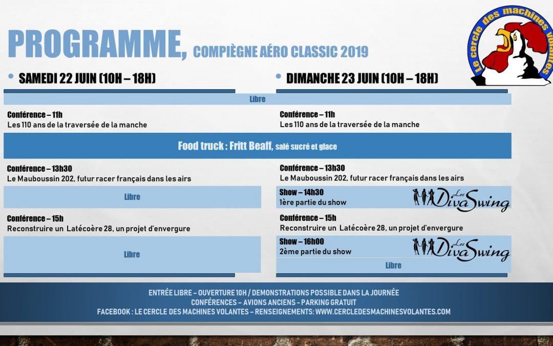 Compiègne Aéro Classic 2019 – Programme